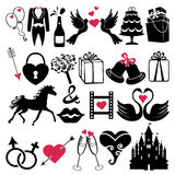 Wedding Design Vector icons for Web and Mobile Stock Photo