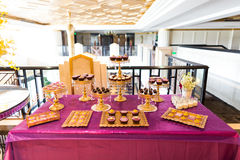 Wedding dessert area Royalty Free Stock Photo