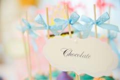 Wedding dessert cake pops Stock Photo