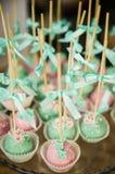 Wedding dessert cake pops Royalty Free Stock Image