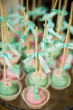 Wedding dessert cake pops Royalty Free Stock Images