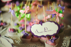 Wedding dessert cake pops Stock Photography