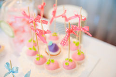 Wedding dessert cake pops Royalty Free Stock Photos
