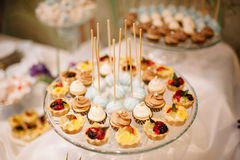 Wedding dessert Cake pops and sweets Royalty Free Stock Photography