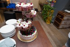 Wedding dessert on the table Royalty Free Stock Images