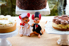 Wedding Dessert Cakes and Mice Royalty Free Stock Photography