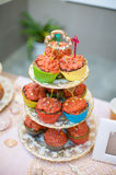 Wedding dessert with delicious cakes Royalty Free Stock Photography