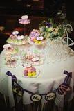 Wedding dessert table Stock Photography