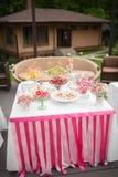 Wedding dessert table Stock Image