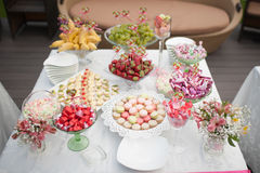 Wedding dessert table Royalty Free Stock Photography