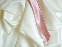 Wedding Detail. View of a detail of a wedding dress royalty free stock images