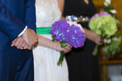Wedding. Detail - bridegroom hands with ring royalty free stock photo