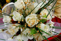 Wedding detail - flowers. Wedding flower bouquet with white roses Stock Image