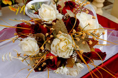 Wedding detail - flowers. Wedding flowers bouquet with white roses Royalty Free Stock Photos