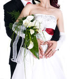 Wedding details. Newly married couple - wedding details Royalty Free Stock Images