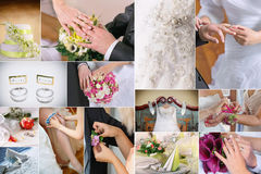 Wedding details collage Stock Photos