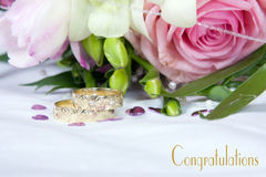 Wedding details - congratulations Stock Images
