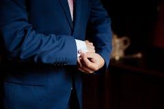 Wedding details, cufflinks Royalty Free Stock Photo