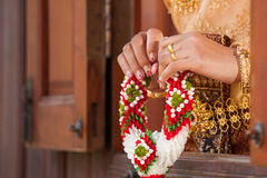 Wedding Details and garlands of thai style Royalty Free Stock Photos