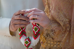 Wedding Details and garlands of thai style Royalty Free Stock Photography