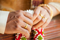 Wedding Details and garlands of thai style Stock Photo