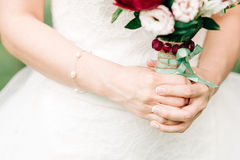 Wedding details. The image of a stylish groom Royalty Free Stock Photography