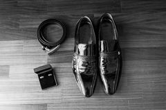 Wedding details. Man accessories. Stock Photography