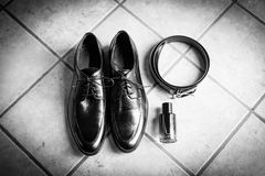 Wedding details. Man accessories. Stock Images