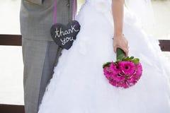 Wedding di ringraziamento Fotografia Stock Libera da Diritti