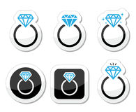 Wedding, Diamond engagement ring icon Royalty Free Stock Photo