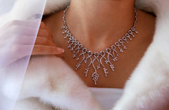 Wedding diamond necklace Royalty Free Stock Photo