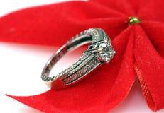 Wedding diamond ring Royalty Free Stock Image
