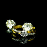 Wedding diamond ring Royalty Free Stock Photography