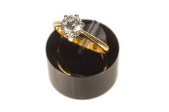 Wedding diamond ring Royalty Free Stock Images