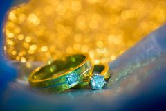 Wedding diamond ring Royalty Free Stock Images