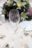Wedding diner table Royalty Free Stock Photography