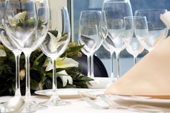 Wedding Diner Table Stock Image