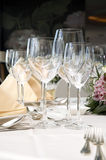 Wedding diner table Royalty Free Stock Photo