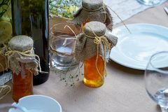 Wedding diner table and wedding organization. Table Stock Photos