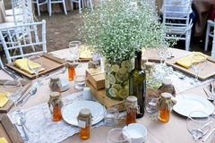Wedding diner table and wedding organization Stock Image