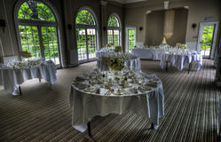 Wedding dining room Royalty Free Stock Photos