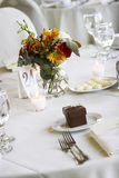 Wedding dining table. Wedding tables set for fine dining Stock Image
