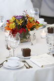 Wedding dining table. Wedding tables set for fine dining Royalty Free Stock Photography