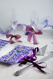 A wedding dining table arrangement Stock Images