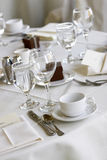 Wedding dining tables Royalty Free Stock Photo