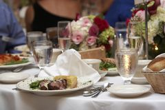 Wedding dinner royalty free stock image