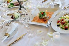 Wedding dinner Royalty Free Stock Photography