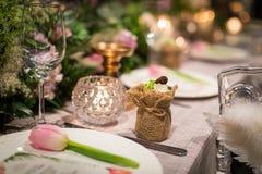 Wedding dinner Stock Photos