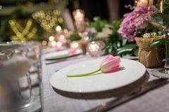Wedding dinner Royalty Free Stock Photos