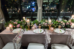 Wedding dinner Stock Photography